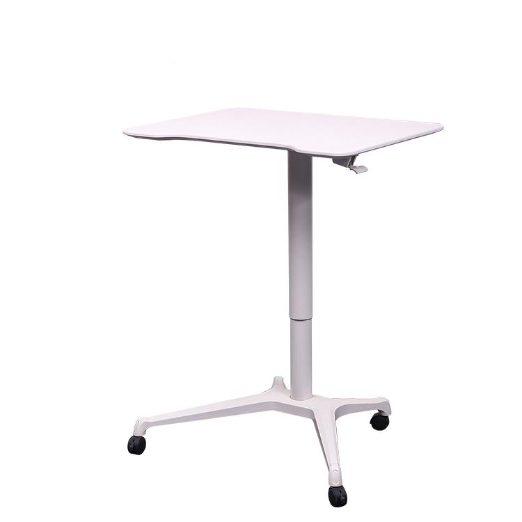 Four Wheels Pneumatic Height Adjustable Laptop Working Coffee Desk